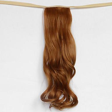 onda de água dourada loira tipo de atadura sintética peruca de cabelo rabo de cavalo (27s cor)