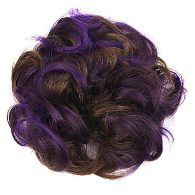 perruque violette 5cm haute température de couleur de cheveux anneau de couleur de fil 2/30-FP03