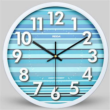 Moderne/Contemporain Autres Horloge murale,Rond Métal Horloge