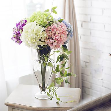 1 Ág Selyem Hortenzia Asztali virág Művirágok