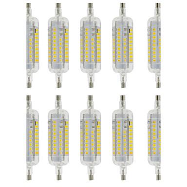 R7S Ampoules Maïs LED T 60 SMD 2835 800 lm Blanc Chaud Blanc Froid Imperméable Décorative AC 100-240 V 10 pièces