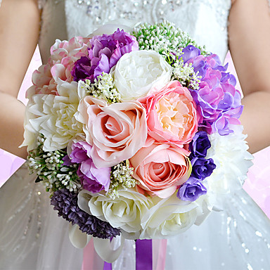 Esküvői virágok Csokrok Esküvő Gyöngy / Csipke / Selyem 9,84