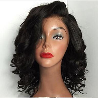 חַם!! תחרה ברזילאית בתולת שיער מלאה קצרה פאות פאות שיער אדם 8