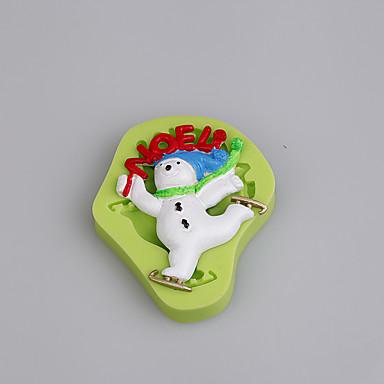 Ferramentas bakeware Silicone Amiga-do-Ambiente / Natal / Faça Você Mesmo Bolo / Biscoito / Torta Desenhos Animados 3D Molde