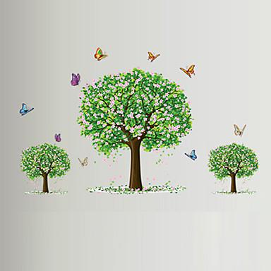 Tiere Stillleben Romantik Mode Blumen Freizeit Botanisch Wand-Sticker Flugzeug-Wand Sticker Dekorative Wand Sticker, Vinyl Haus Dekoration
