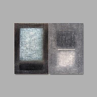 Peint à la main Abstrait Peintures à l'huile,Modern Deux Panneaux Toile Peinture à l'huile Hang-peint For Décoration d'intérieur