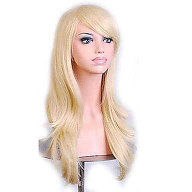 70 cm Long Curly Golden Hair Air Volume High Temperature Silk Wig