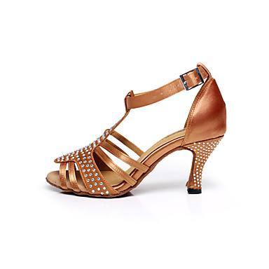 Damen Schuhe für den lateinamerikanischen Tanz / Salsa Tanzschuhe Glitzer / Satin Sandalen Schnalle Keilabsatz Keine Maßfertigung möglich