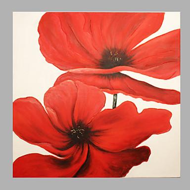 Peint à la main A fleurs/Botanique Carré,Moderne Classique Réalisme Pastoral Style européen Un Panneau Toile Peinture à l'huile Hang-peint