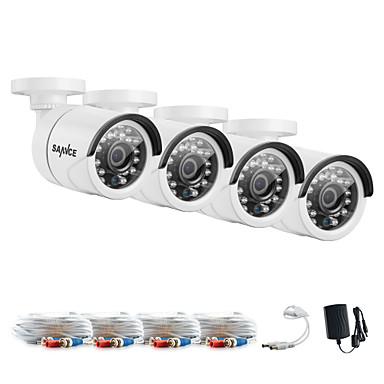 sannce® 1080 * 720 ahd caméra intérieure extérieure cctv ir kits coupés kits de système de sécurité à la maison étanches