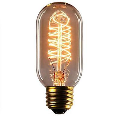 HRY 1pc 40W E26/E27 T45 2300 K Glødende Vintage Edison lyspære 220V-240V V