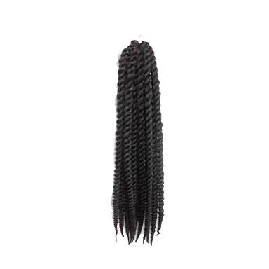 #1B Havana Twist Braids Hair Extensions 24inch Kanekalon 2 Strand 75-80g/pcs gram Hair Braids