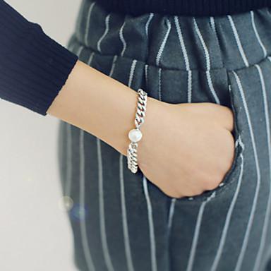 Femme Chaînes & Bracelets Bracelets en Argent Perle Alliage Vintage Argent Bijoux 1pc