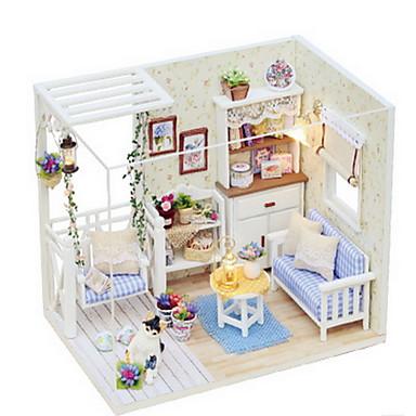 משחקי דמויות אבני בניין רהיט בית עץ בנות