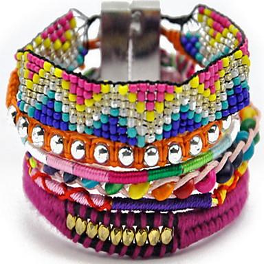 נשים צמידי צ'ארם צמידי גלישה חברות גדילים אופנתי סגנון בוהמיה בד סגסוגת תכשיטים תכשיטים עבור יומי קזו'אל
