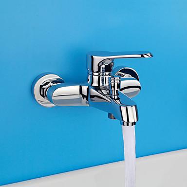 Moderno Modern Solo ducha Separado Válvula Cerámica 2 Orificios Sola manija Dos Agujeros Cromo, Grifo de ducha