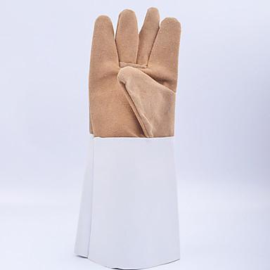 soldador luvas de solda luvas de meia cintura de couro de peles Usar luvas de protecção engrossado