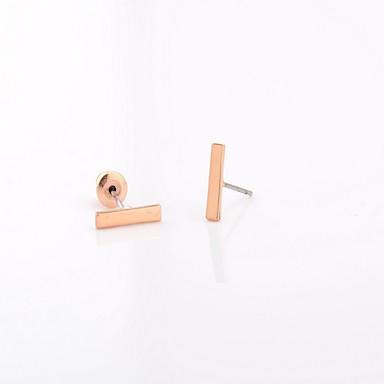 halpa Muotikorvakorut-Miesten Naisten Niittikorvakorut Yksinkertainen minimalistisesta pukukorut Muoti Metalliseos Line Shape Korut Käyttötarkoitus Party