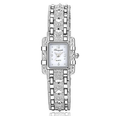 baratos Relógios Senhora-Mulheres Relógio de Moda Bracele Relógio Relógio de Pulso Quartzo Prata Relógio Casual imitação de diamante Analógico Amuleto - Branco Vermelho Azul