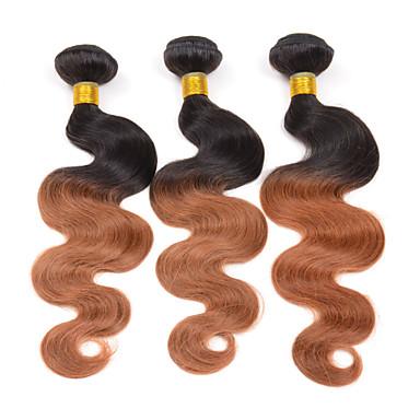 שיער הודי Body Wave שוזרת שיער אנושי 3 חלקים 0.3