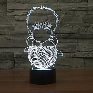 3D-magische Nachtlicht mit animierten Figuren Innenlicht für Kinder in wechselnden Farben Nachtlicht