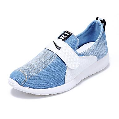 Herre-Lerret Tekstil-Flat hæl-Komfort-Treningssko-Friluft Fritid Sport-Blå Marine