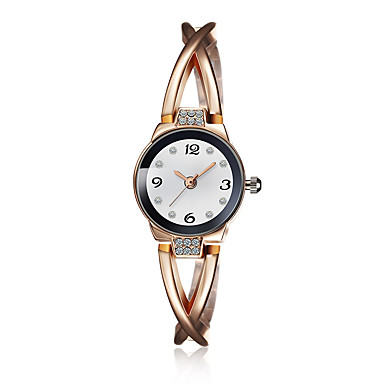 jewelora Mulheres Relógio Elegante Relógio de Moda Quartzo Resistente ao Choque Lega Banda Amuleto Vintage Dourada