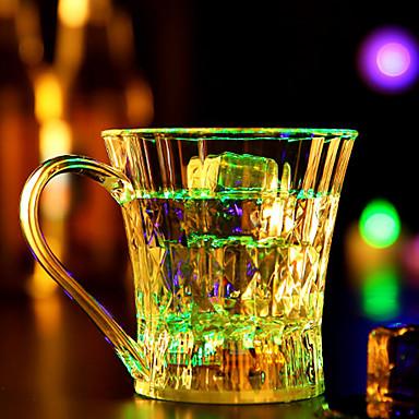 1 stk fargerike farge kreativ tilfeldig pub KTV ledet lampe nattlys ledet drinkware