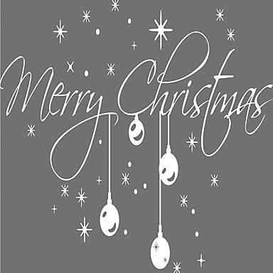 Weihnachten / Worte & Zitate / Feiertage Wand-Sticker Flugzeug-Wand Sticker Dekorative Wand Sticker,vinyl StoffAbziehbar /
