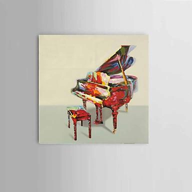 ציור שמן צבוע-Hang מצויר ביד - מופשט / טבע דומם קלסי / מודרני / סגנון ארופאי בַּד