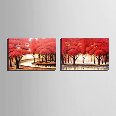 Handgemalte Landschaft Horizontal, Europäischer Stil Modern Segeltuch Hang-Ölgemälde Haus Dekoration Ein Panel