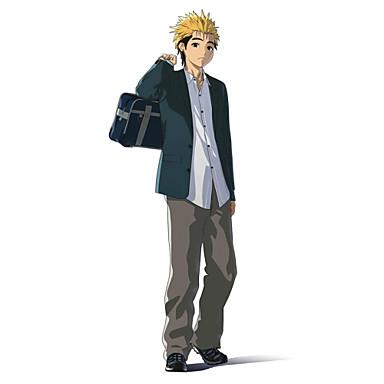 Inspiré par Ajin Kaito Manga Costumes de Cosplay Costumes Cosplay Couleur Pleine Manches Longues Manteau Chemise Pantalon PourMasculin