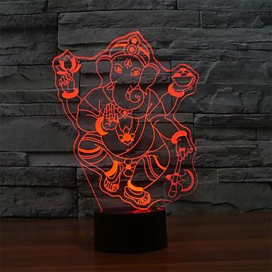 lâmpada de mesa touch touch para atmosfera luz noite 3d lampara touch lampcolor-changing night light
