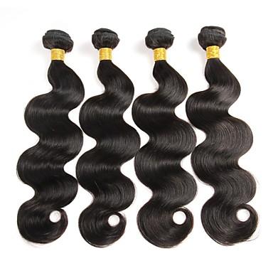 Cheveux Péruviens Ondulation naturelle Tissages de cheveux humains 4 Pièces 0.4
