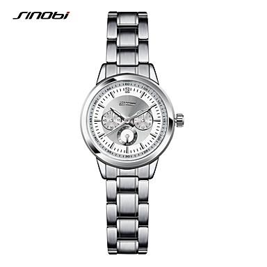 SINOBI Mujer Reloj Pulsera Resistente al Agua / Resistente a los Golpes Aleación Banda Lujo / Vintage / Moda Plata / Dos año / Sony SR626SW