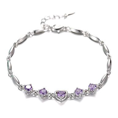 Bracelet Chaînes & Bracelets Plaqué argent Amour Mode Mariage Bijoux Cadeau Argent,1pc