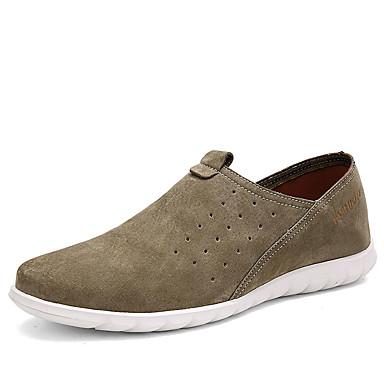 Herre-Denim-Flat hæl-Mokkasin-一脚蹬鞋、懒人鞋-Fritid-