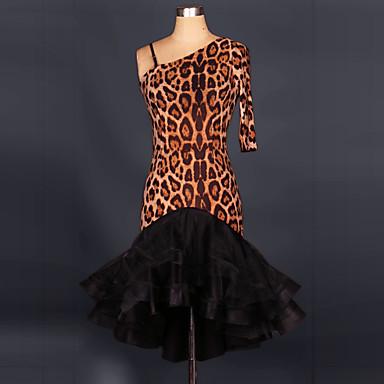 שמלות ריקוד לטיניות נשים הביצועים של שיפון שיפון / סטרץ מקופלת 1 חתיכה על ידי we we ®