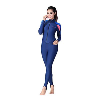 Dive&Sail Naisten Skin-tyyppinen märkäpuku Ultraviolettisäteilyn kestävä Puristus Full Body Spandex Polyamidi Pitkähihainen Sukelluspuvut