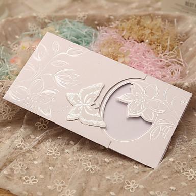 Side Fold Bryllupsinvitasjoner 50-Invitasjonskort Klassisk Stil Eventyr Tema Perlepapir