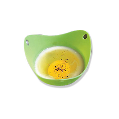 1 stk silikon apparater stekt egg apparater sirkel mikrobølgeovn produkter matlaging styling kjøkken gadget