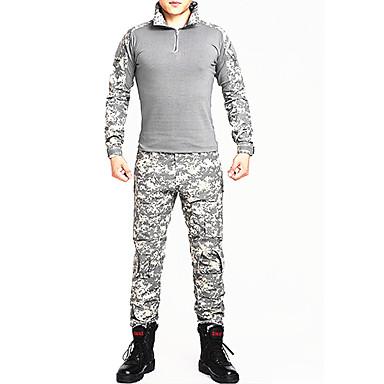 Camiseta Camuflada de Caçador Secagem Rápida Vestível Respirável Resistente ao Choque Homens Mulheres Unisexo Manga Longa Esportes