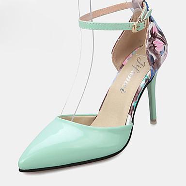Damen-High Heels-Lässig-PU-Stöckelabsatz-Absätze-Grün / Rosa / Weiß