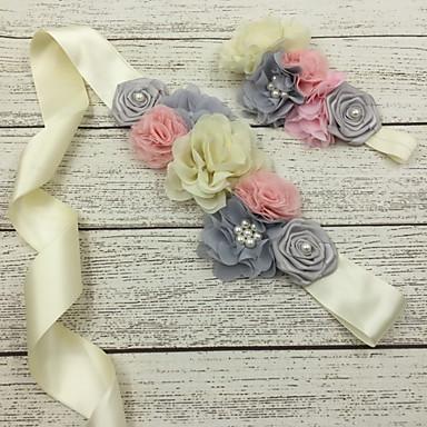 Satin Mariage / Fête/Soirée Ceinture-Fleur Les filles de fleurs 130cm Fleur