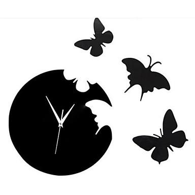 Animaux Stickers muraux Stickers muraux 3D / Miroirs Muraux Autocollants Stickers muraux décoratifs / Stickers horloge,PVC Matériel