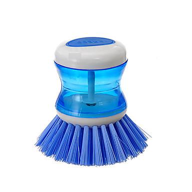 antiaderentes raspador de óleo inferior ferramentas pot escova de limpeza de silicone escova (cor aleatória)