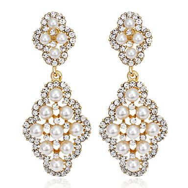 Mulheres Cristal Brinco - Fashion Prata / Dourado Para Casamento / Festa / Diário / Diamante / Multi-Pedras / Zircão
