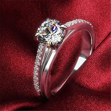 Dames Bandringen Luxe Modieus Sterling zilver Strass Sieraden Bruiloft