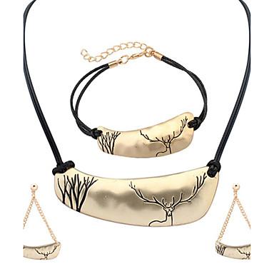 Femme Set de Bijoux Mode Noël Européen Alliage Colliers décoratifs Boucles d'oreille Bracelet Pour Soirée Quotidien Cadeaux de mariage