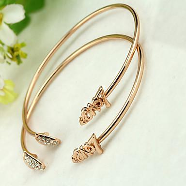 Bracelet Bracelets Rigides / Manchettes Bracelets Alliage Vintage Quotidien / Décontracté Bijoux Cadeau Argent,1pc